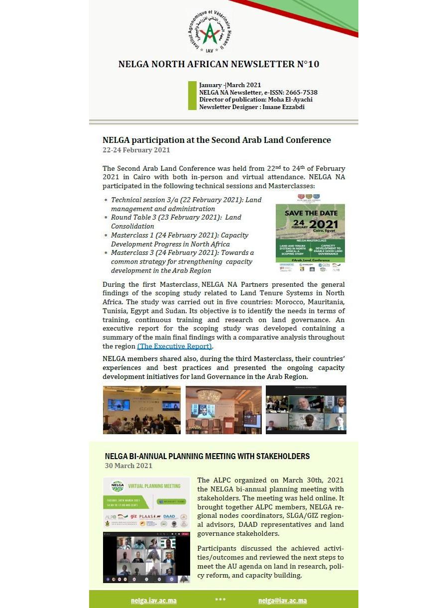 NELGA North African Newsletter N°10