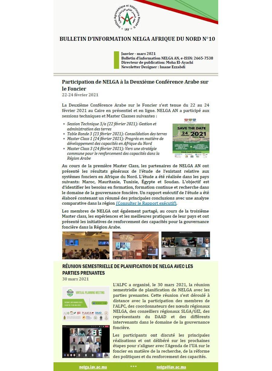 NELGA North African Newsletter N°10 – FR
