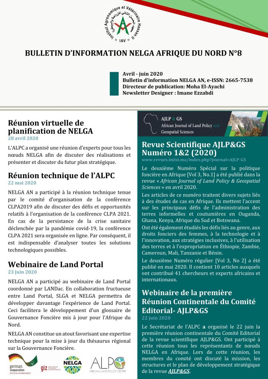 NELGA North African Newsletter N°8 - FR