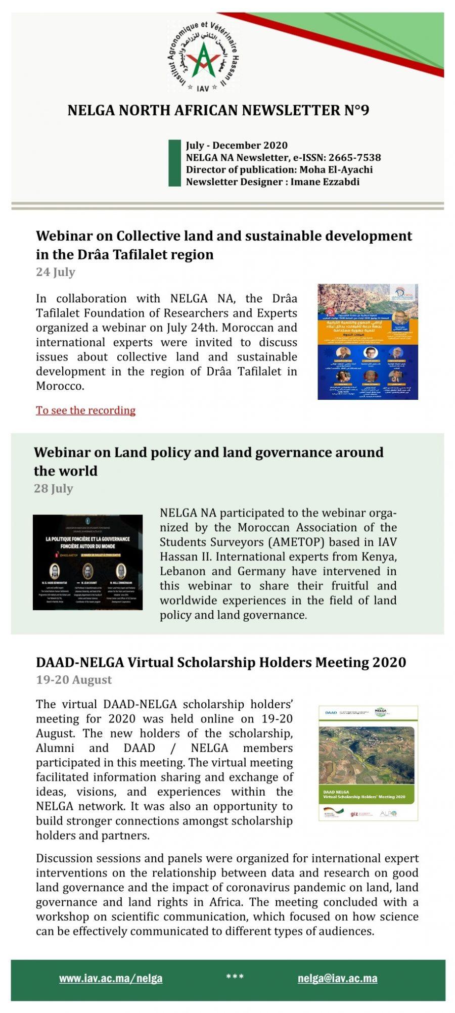 NELGA North African Newsletter N°9